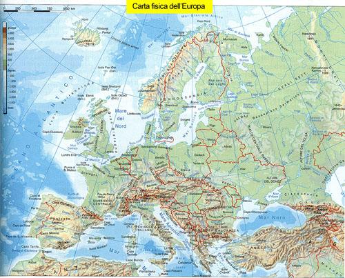 Cartina Muta Dell Europa Fisica.Geografia Fisica Geografia Per Tutti